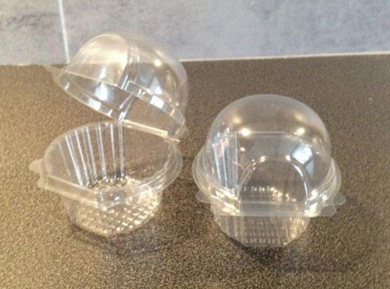 500 pequeñas   medianas de plástico único Cupcake   Muffin casos-vainas cúpulas-Cajas