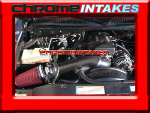 BLACK RED 99-07 CHEVY//GMC//CADILLAC TRUCKS//SUVS 4.8//5.3//6.0//8.1 COLD AIR INTAKE