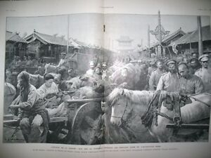 Guerre-Russia-Japan-Manchourie-Mukden-Coolies-China-L-039-Illustration-1905
