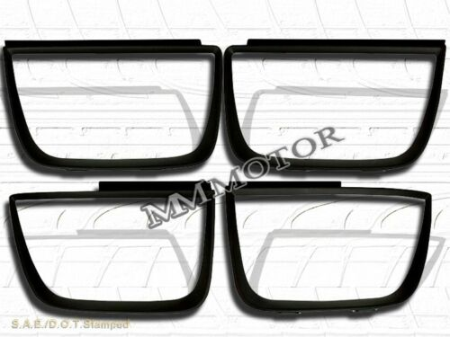 2011 12 13 Chevrolet Camaro Flat Black Paintable Tail Lights Trim Bezel 4PCS