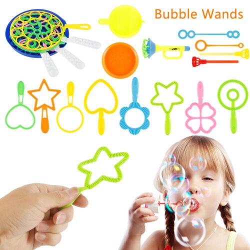 28Pcs Bubble Blower Set Bubble Maker Wand Hoop /& Plate Kids Outdoor Toy Gift UK