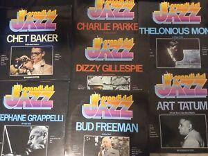 8 LP JAZZ PARKER GORDON GILLESPIE MONK JOHNSON LEWIS NAVARRO POWELL + FASCICOLI