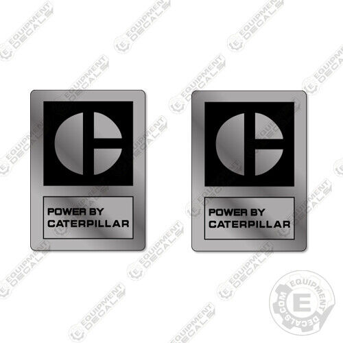"Silver 2.5/"" x 3.5/"" Caterpillar Brake Saver Decal Kit Custom Semi Stickers"
