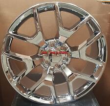 "24"" Wheels & Tires GMC Sierra Style Chrome Rims Denali Yukon Silverado Tahoe 26"