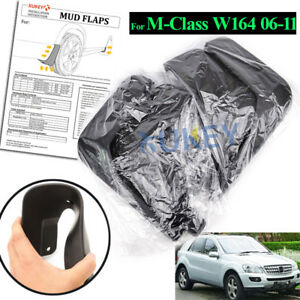 Front-Rear-Mud-Guards-Flaps-For-Mercedes-2006-2011-ML350-320-W164-Splash-Guards