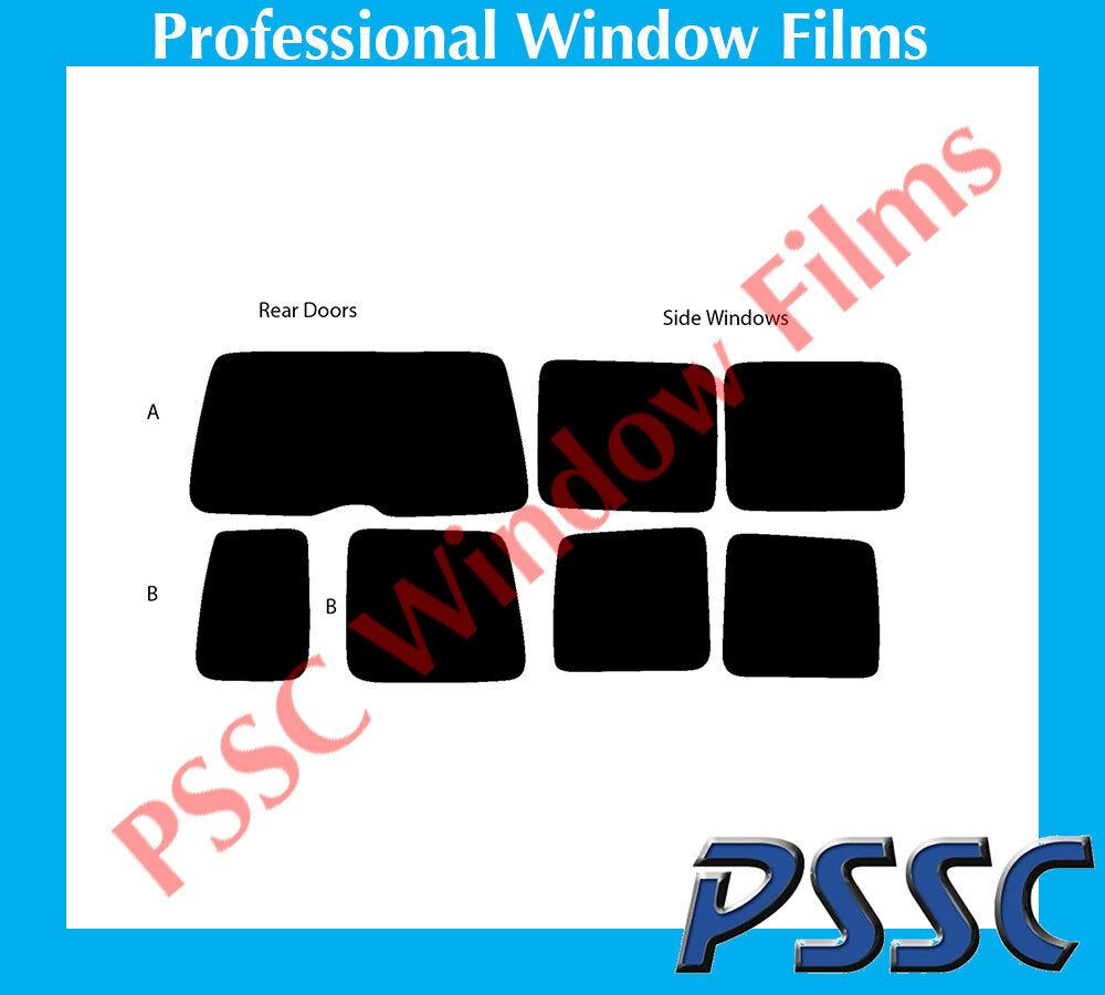 PSSC Pre Cut Rear Car Window Films - VW Caddy 2002 to 2008