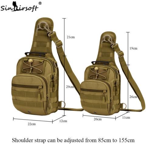 Mens Molle Tactical Sling Chest Bag Assault Pack Messenger Shoulder Backpack