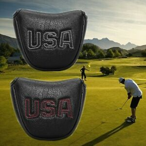 Mallet-Putter-Cover-For-Taylormade-Odyssey-Golf-Club-Head-Cover-Magnet-USA-Black