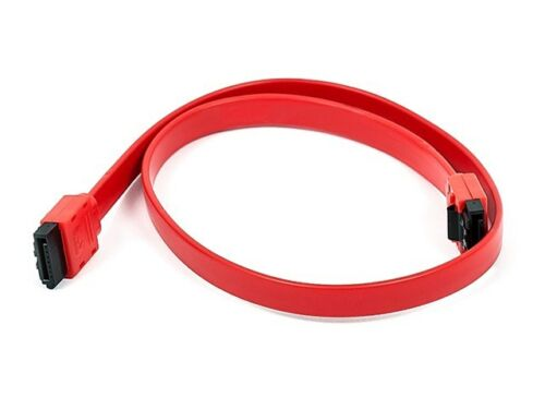 18inch SATA 6Gbps Cable w//Locking Latch Red