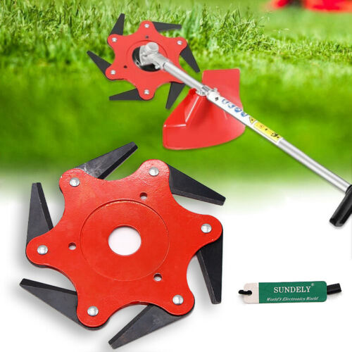 6-Tooth Grass Trimmer Brush Cutter Head Steel Home Garden Strimmer Mower Blade