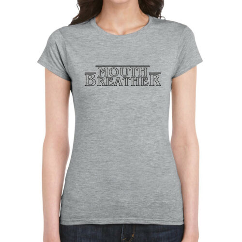 Womans T-Shirt Funny Joke Stranger Things Eleven Mouth Breather