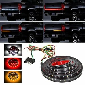 Details About 5 Function 60 Led Tailgate Strip Light Bar Fit For Ford F 150 F 250 F 350 F 450