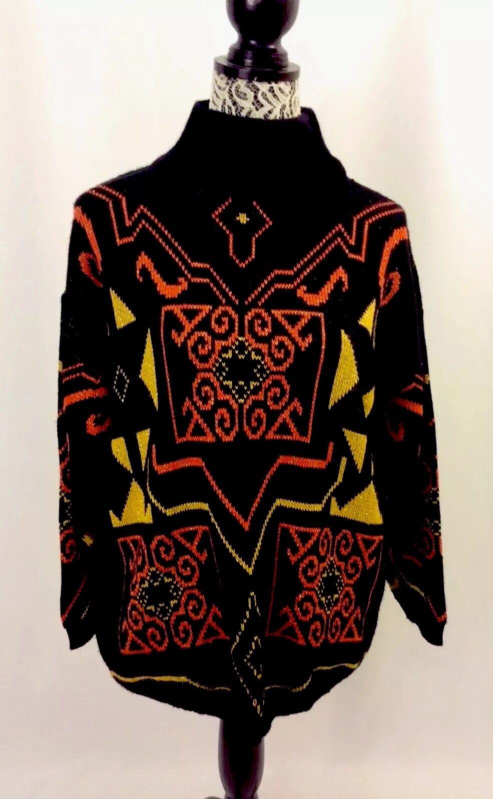PAUL SIMON London 70s Hand Knitted Blend Sweater Hippie Boho 5UK XS Unique RARE
