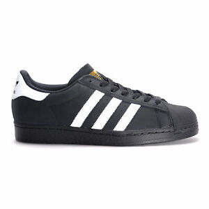 adidas superstar ii (black/white/gold)