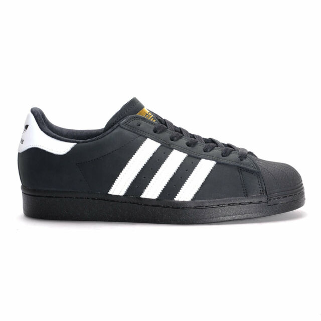 adidas Superstar ADV (Core BlackWhiteGold Metallic) Skate Shoes