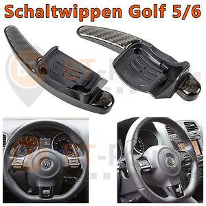 VW-DSG-Karbon-Schaltwippen-Verlaengerung-Schaltung-Wheel-Dial-Shift-Paddle-Carbon