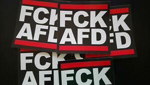 50 FCK AFD Aufkleber Ultras Antifa Anti Nazis Punk AFA 161 PVC ca 10cm Stickers