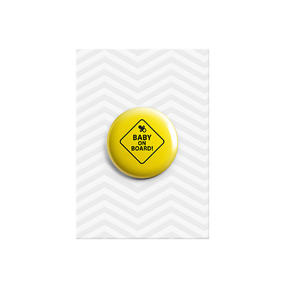 Baby on Board New Baby Shower Announcement Pregnancy Gift Button Pin Badges 38mm