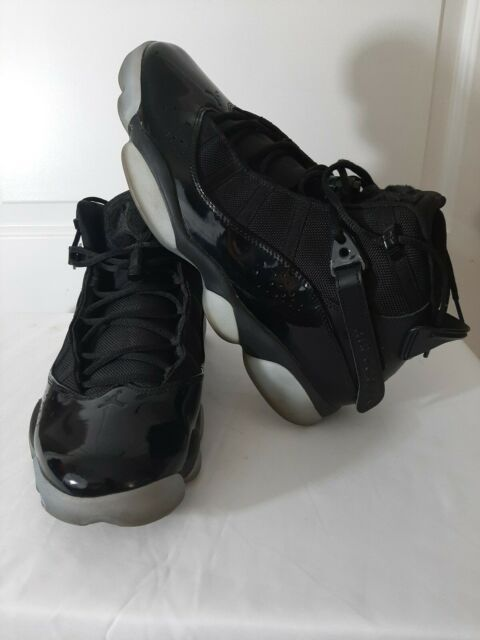 Violar Bajo mandato complejidad  Jordan 6 Rings Mens 322992-011 Black Ice Sole Blue Basketball ...