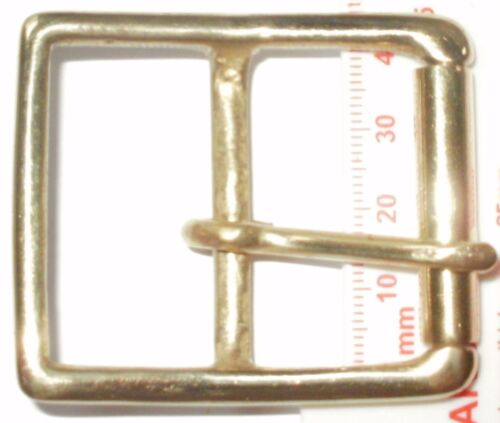 SOLID BRASS FULL ROLLER MILITARY STYLE BELT STRAP BUCKLE 50MM 40MM 32MM