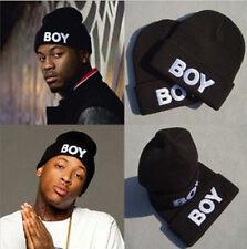Blue Cool Boy Men Hip-Hop Beanie Autumn Winter Knit Cotton Knitting Cool Hat Cap