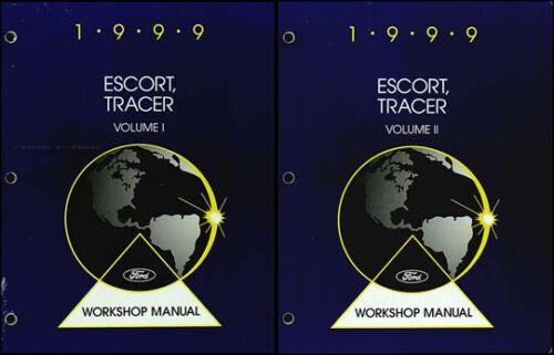 1999 Ford Escort and ZX2 Mercury Tracer Shop Manual Set Repair ...