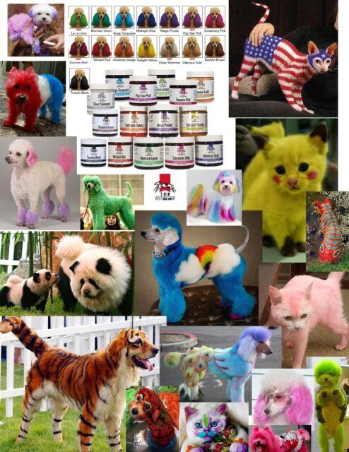 Top Performance HAIR DYE COLOR GEL For DOG CAT PET Coat Fur Coloring  Grooming