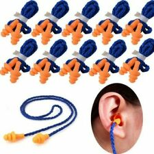 10 Pairs Silicone Earplugs With Cord Reusable Hearing Protection Earplugs