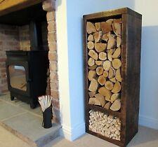 Log Store Log Holder  Solid Wood Tall  Indoor  Firewood Strorage Log Basket