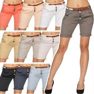 Damen-Chino-Shorts-Hotpants-Bermudas-knielang-Cargo-Hose-Guertel-kurz-3-4-blog