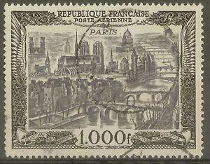 FRANCE-STAMP-TIMBRE-AERIEN-N-29-034-VUE-DE-PARIS-1000F-1950-034-OBLITERE-TTB