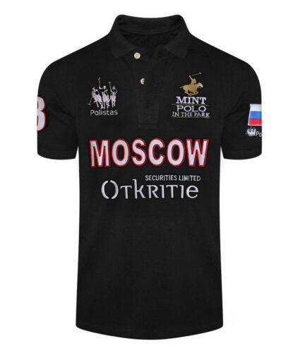 RRP £ 99.99 Polistas Moscú Camisa Polo para hombre Algodón 100/% AHORA £ 14.99
