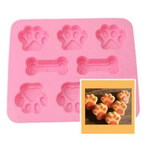 Silicone-Pet-Dog-Bone-Paw-Soap-Cake-Mold-Chocolate-Candy-Fondant-Tray-ICE-Cube-G