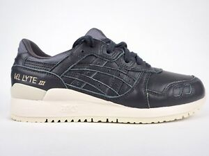 more photos 8eaa1 948fd Details about Asics Gel Lyte III H7M4L 9595 Dark Grey Lace Up Leather  Casual Trainers
