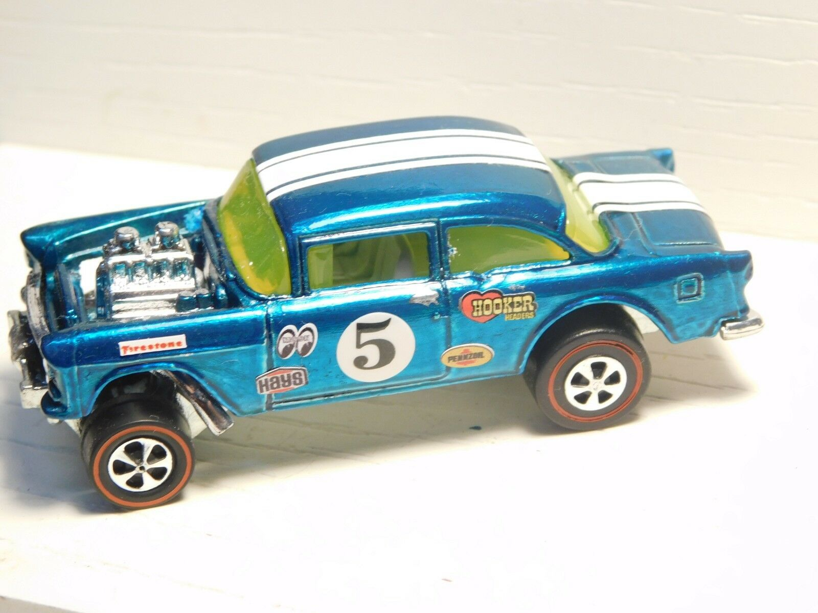 55 Chevy Bel Air Gasser Hot Wheels Redline Premium Resto-Conversion Aqua