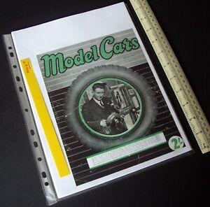 """1949/1980s """"Model Cars"""" Mag V2#14 RTP Rail & Track Ivan Prior Desktop Copy. N427"""