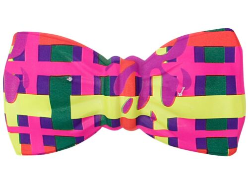 CLOWN COLORATA-MOSCA PARTY-Mosca Colorato Carnevale Carnevale Jumbo-Mosca Bow Tie NUOVO