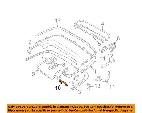 BMW OEM 325Ci Storage Cover-Convertible//soft Top-Top Cover Right 51178245854