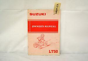 suzuki lt50 owner s manual 25 ebay rh ebay com 2003 suzuki lt50 owners manual suzuki lt50 user manual