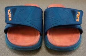 nike air max lebron james mens basketball slides sandals sz 9 euc