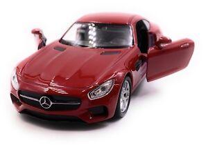 Mercedes-Benz-AMG-Gt-Voiture-Sport-Maquette-de-Auto-Rouge-Echelle-1-3-4
