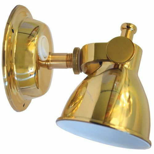 brass bunk reading lamp white led boat marine caravan led