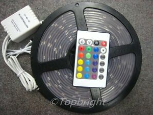 5X-5M-SMD-5050-RGB-Waterproof-150-LED-Strip-IR-Remote