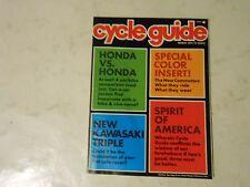 MARCH 1974 CYCLE GUIDE MAGAZINE,KAWASAKI 400 S-3,HONDA VS HONDA,TRANS AM 650 YAM
