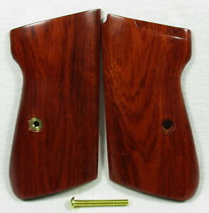 New wood checkered grips for Walther PPK//S Interarm .380 ACP