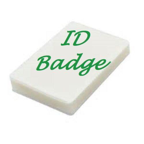 500 ID BADGE Laminating Pouches Sheets 2.56 X 3.75 5 Mil No Slot Scotch Quality