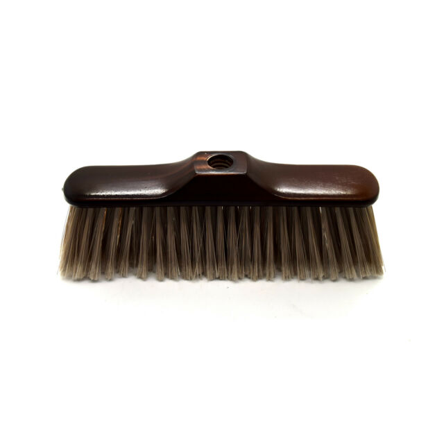 Brown Soft Bristle 30cm Wide Broom Head for Household Home Yard Garden Patio P