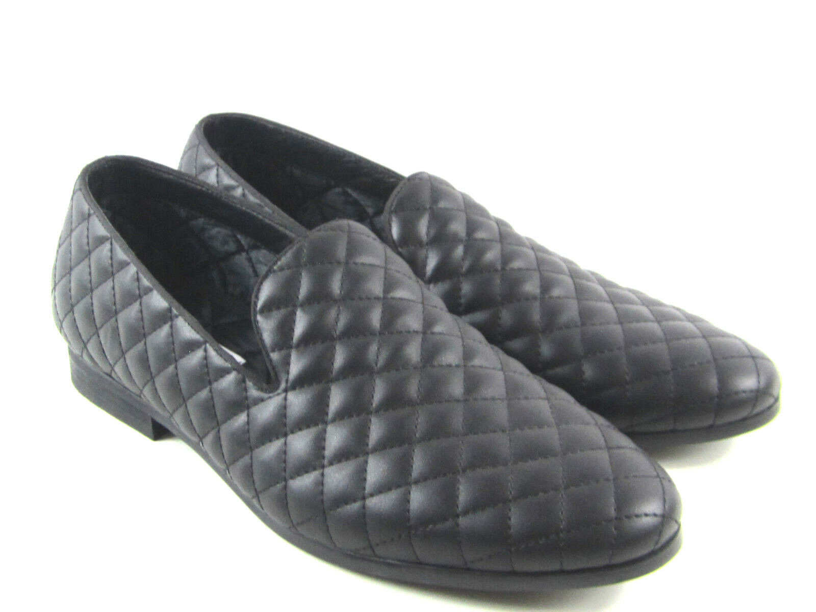 Steve Madden Men's Cubic Smoking Loafer Slip On shoes Quilted Pleated Size 10.5