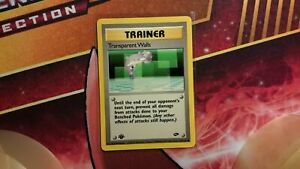 Transparent Walls 125//132 1st Ed Trainer Gym Challenge Pokemon Card EX-NM