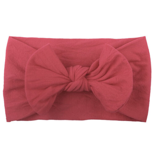 Lovely Soft Baby Girls Toddlers Bow Hairband Headband Turban Big Knot Head-Wrap